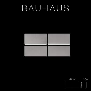 Mosaik Fliese massiv Metall Edelstahl matt in grau 1, 6mm stark ALLOY Bauhaus-S-S-MA 1, 05 m2 - Vorschau 2