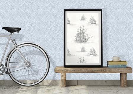 Grafik Tapete Atlas SIG-580-0 Vliestapete strukturiert mit abstraktem Muster schimmernd weiß rein-weiß perl-weiß 5, 33 m2 - Vorschau 2