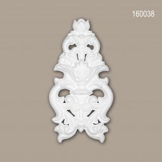 Zierelement PROFHOME 160038 Rokoko Barock Stil weiß