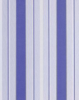 Streifen Tapete EDEM 069-22 Designer Vinyl Tapete Struktur Kobaltblau lichtblau weiß silber