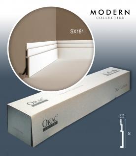 Orac Decor SX181 MODERN 1 Karton SET mit 7 Sockelleisten Zierleisten | 14 m