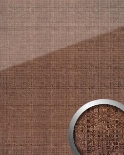 Wandpaneel Glas-Optik WallFace 20220 GRID Rose AR+ Wandverkleidung glatt in Textil-Optik glänzend selbstklebend abriebfest rosa bronze 2, 6 m2