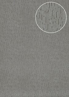 Hochwertige Ton-in-Ton Tapete Atlas COL-544-3 Vliestapete glatt unifarben schimmernd grau umbra-grau silber 5, 33 m2