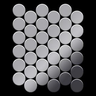 Mosaik Fliese massiv Metall Edelstahl marine hochglänzend in grau 1, 6mm stark ALLOY Medallion-S-S-MM 0, 73 m2 - Vorschau 3