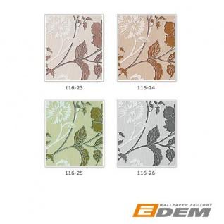 3D Blumentapete Landhaustapete EDEM 116-24 Design Blumen Floral Tapete hell-karamell weiß kupfer-braun silber - Vorschau 4