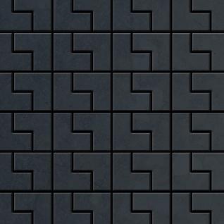 Mosaik Fliese massiv Metall Rohstahl gewalzt in grau 1, 6mm stark ALLOY Kink-RS Designed by Karim Rashid 0, 93 m2