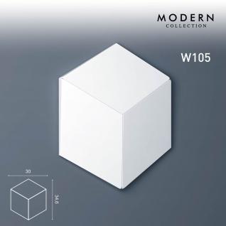 3D Wandpaneel Orac Decor W105 MODERN ROMBUS Zierlement Modernes Design weiß