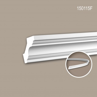 Eckleiste PROFHOME 150115F Zierleiste Flexible Leiste Stuckleiste Neo-Klassizismus-Stil weiß 2 m