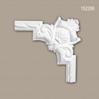 Eckelement PROFHOME 152288 Zierelement Rokoko Barock Stil weiß