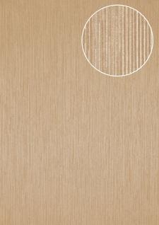 Edle Streifen Tapete Atlas COL-558-0 Vliestapete strukturiert mit Struktur schimmernd grau grau-weiß bronze 5, 33 m2