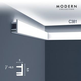Eckleiste Orac Decor C381 MODERN L3 Indirekte Beleuchtung Zierleiste Modernes Design weiß 2m