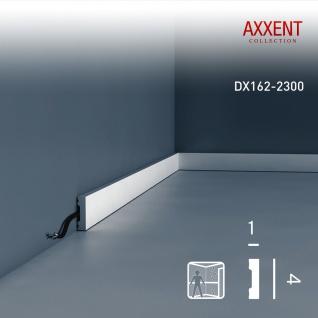 Sockelleiste mit Kabelkanal Orac Decor DX162-2300 AXXENT Wandleiste multifunktional Kabel Kanal Leiste | 2, 30 Meter