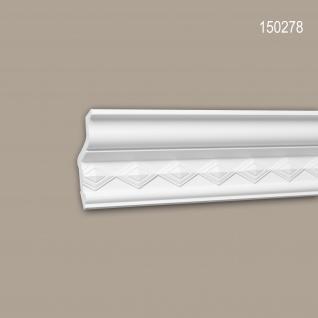 Eckleiste PROFHOME 150278 Zierleiste Stuckleiste Neo-Klassizismus-Stil weiß 2 m
