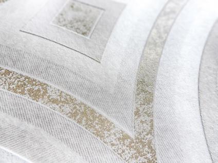 Grafik Tapete ATLAS HER-5135-1 Vliestapete geprägt im Kaleidoskop-Stil schimmernd creme perl-weiß perl-gold 7, 035 m2 - Vorschau 2