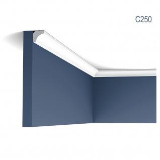 Eckleiste Orac Decor C250 LUXXUS Stuckleiste Zierleiste Decken Stuckgesims Wand Dekor Profil Dekorleiste 2 Meter