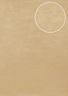 Uni Tapete Atlas TEM-5114-3 Vliestapete strukturiert im Shabby Chic Stil schimmernd beige cappuccino grau-beige 7, 035 m2