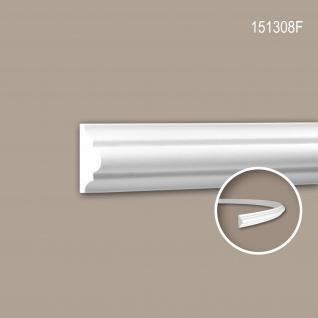 Wand- und Friesleiste PROFHOME 151308F Stuckleiste Flexible Leiste Zierleiste Neo-Klassizismus-Stil weiß 2 m