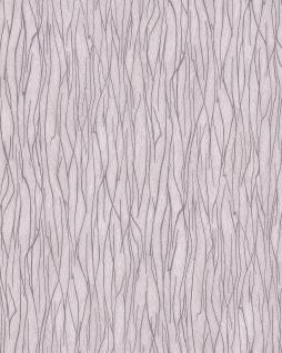 Streifen Tapete EDEM 122n-23 Vinyltapete geprägt Ton-in-Ton und Metallic Effekt creme grau beige 5, 33 m2