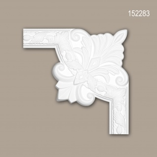 Eckelement PROFHOME 152283 Zierelement Rokoko Barock Stil weiß