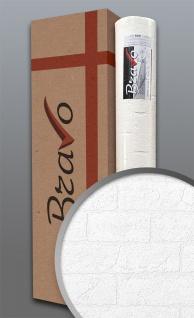 Struktur-Tapete EDEM 83101BR70 Überstreichbare Stein Vliestapete strukturiert in Mauersteinoptik Ziegelstein weiß 106 m2 1 Karton 4 Rollen