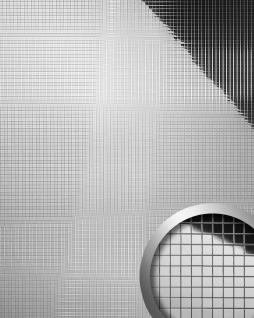 Wandpaneel Wandverkleidung WallFace 10657 M-Style Design Tapete Metall Dekor selbstklebend spiegelnd silber | 0, 96 qm