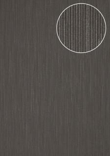 Edle Streifen Tapete Atlas COL-558-4 Vliestapete strukturiert mit Struktur schimmernd grau blau-grau silber 5, 33 m2