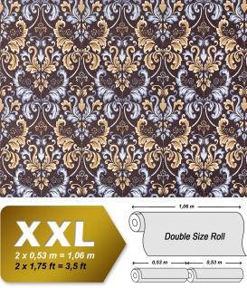 Vliestapete Barock-Tapete XXL EDEM 966-26 Muster Ornament klassisch braun blau beige | 10, 65 qm