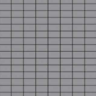 Mosaik Fliese massiv Metall Edelstahl matt in grau 1, 6mm stark ALLOY Bauhaus-S-S-MA 1, 05 m2 - Vorschau 1