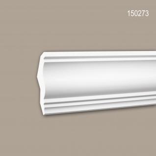 Eckleiste PROFHOME 150273 Zierleiste Stuckleiste Neo-Klassizismus-Stil weiß 2 m