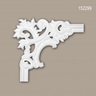 Eckelement PROFHOME 152299 Zierelement Rokoko Barock Stil weiß