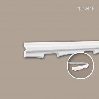Wand- und Friesleiste PROFHOME 151341F Stuckleiste Flexible Leiste Zierleiste Neo-Empire-Stil weiß 2 m