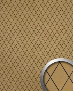 Wandverkleidung Rombo Mosaik Dekor selbstklebend WallFace 18586 LINEA Wandpaneel Design gold beige   2, 60 qm