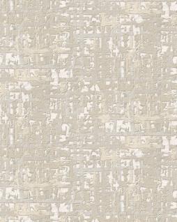 Textiloptik Tapete Profhome DE120091-DI heißgeprägte Vliestapete geprägt mit abstraktem Muster schimmernd creme weiß hell-elfenbein 5, 33 m2