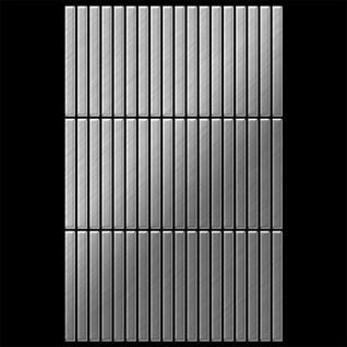 Mosaik Fliese massiv Metall Edelstahl gebürstet in grau 1, 6mm stark ALLOY Linear-S-S-B 0, 94 m2 - Vorschau 3
