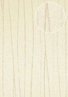 Streifen Tapete Atlas COL-567-3 Vliestapete glatt Design schimmernd creme creme-weiß beige-grau 5, 33 m2