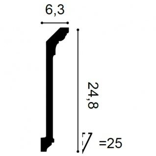 Dekor Profil Orac Decor C308F LUXXUS flexible Leiste Eckleiste Zierleiste Stuckleiste Decken Gesims Ornament 2 Meter - Vorschau 2