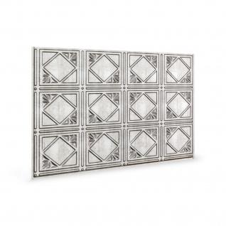 Wandpaneel 3D Profhome 3D 705632 Artnouvo Crosshatch Silver Dekorpaneel geprägt im Vintage Look glänzend silber 1, 7 m2