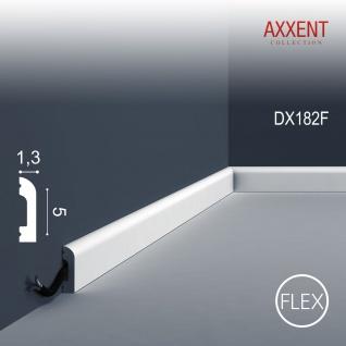 Türumrandung Orac Decor DX182F AXXENT CASCADE flexible Sockelleiste Wandleiste Modernes Design weiß 2m