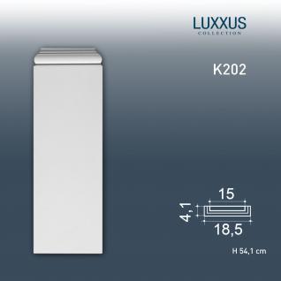 Pilaster Stuck Orac Dekor K202 LUXXUS Sockel Stuck Dekor Element aus leichtem stabilem Hartschaum Material weiß | 54 cm