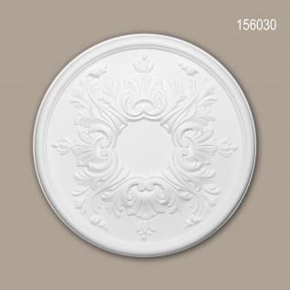 Rosette PROFHOME 156030 Zierelement Deckenelement Rokoko Barock Stil weiß Ø 39, 5 cm