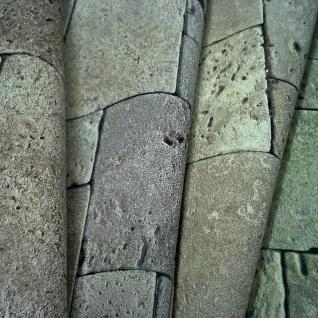3D Stein Vliestapete EDEM 957-28 XXL stone cubes geprägte Mosaik-Stein Naturstein Optik grün-grau 10, 65 qm - Vorschau 5