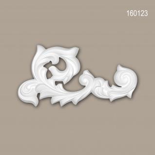 Zierelement PROFHOME 160123 Rokoko Barock Stil weiß