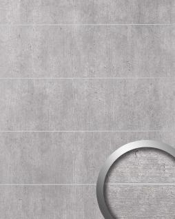 Wandverkleidung Beton Optik WallFace 19103 CEMENT LIGHT 8L Stein Blickfang Dekor Wandpaneel mit 8 Lisenen selbstklebend hellgrau grau 2, 60 qm