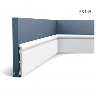 Sockelleiste Fußleiste von Orac Decor SX138 AXXENT Profilleiste Wand Boden Leiste mit Kabelschutz Funktion | 2 Meter
