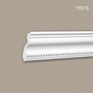 Eckleiste PROFHOME 150216 Zierleiste für indirekte Beleuchtung Stuckleiste Neo-Klassizismus-Stil weiß 2 m