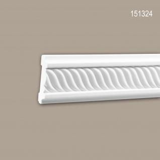 Wand- und Friesleiste PROFHOME 151324 Stuckleiste Zierleiste Wandleiste Neo-Empire-Stil weiß 2 m