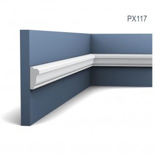 Profilleiste Friesleiste Stuck PX117 AXXENT Wandleiste Zierleiste profil Wand Rahmen Dekor Element | 2 Meter