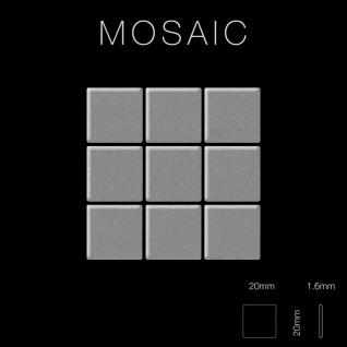 Mosaik Fliese massiv Metall Edelstahl matt in grau 1, 6mm stark ALLOY Mosaic-S-S-MA 1, 04 m2 - Vorschau 2
