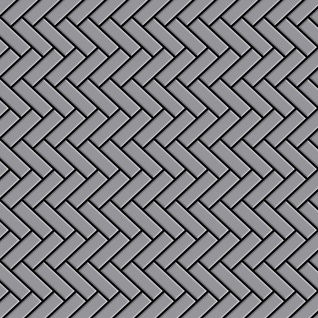 Mosaik Fliese massiv Metall Edelstahl matt in grau 1, 6mm stark ALLOY Herringbone-S-S-MA 0, 85 m2