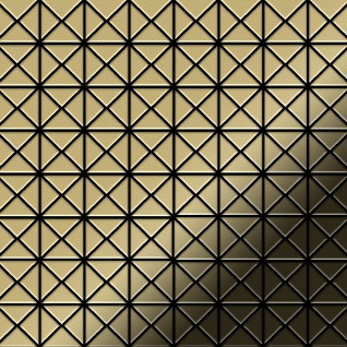 Mosaik Fliese massiv Metall Messing gewalzt in gold 1, 6mm stark ALLOY Deco-BM 0, 92 m2